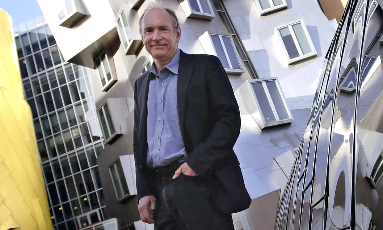 Tim Berners-Lee: 'What was once a rich selection of blogs and websites has been compressed under the powerful weight of a few dominant platforms.' Photograph: Charles Krupa/AP